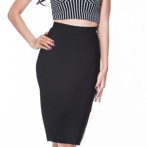 Classic Black Bandage Skirt | The Kewl Shop